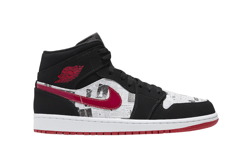Jordan 1 Mid Newspaper Air Times 852542-061