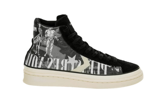 Pleasures x Converse Pro Leather Mid Black Grey 165602c