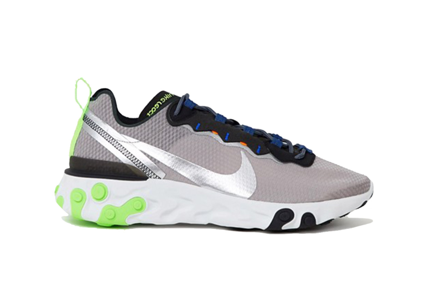 Nike React Element 55 Grey Volt : Release date, Price & Info