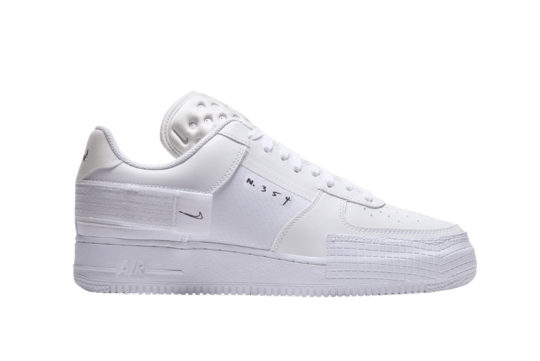 Nike Air Force 1 Low Type Triple White cq2344-101