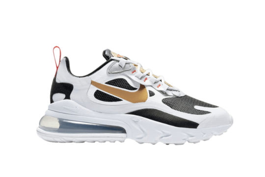 Nike Air Max 270 React Metallic Gold Swoosh ct3433 001