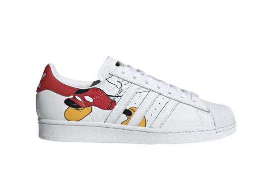 Mickey Mouse adidas Superstar White Red fw2901