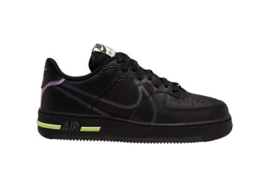Nike Air Force 1 React D/MS/X Black Volt cd4366-001