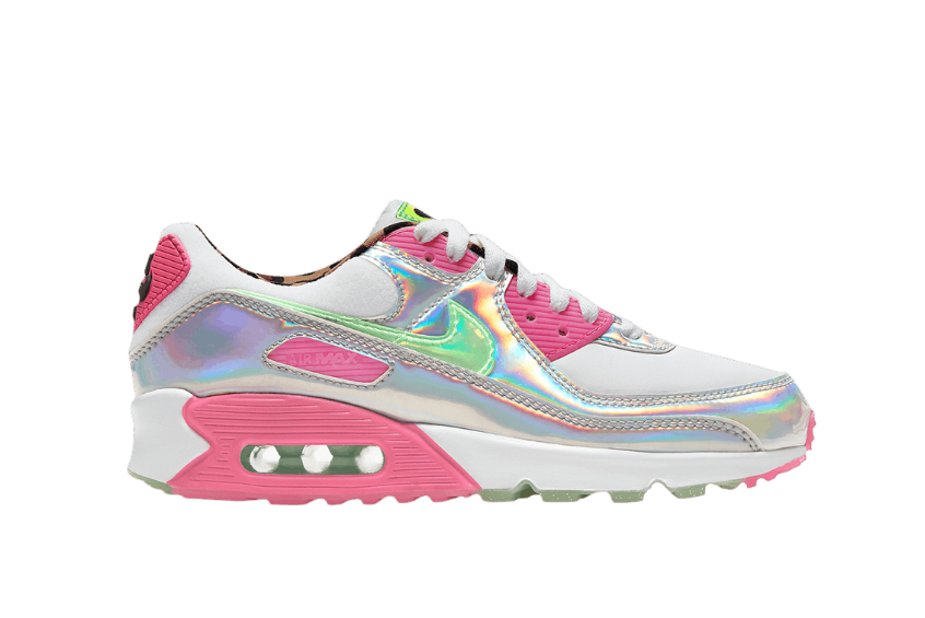 Nike Air Max 90 LX Trainers In Pink White | Nike air max 90