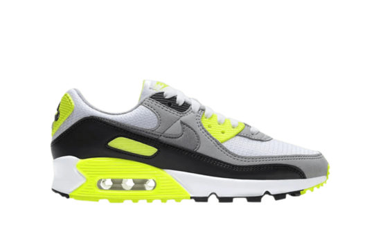 Nike Womens Air Max 90 Yellow Grey cd0490-101