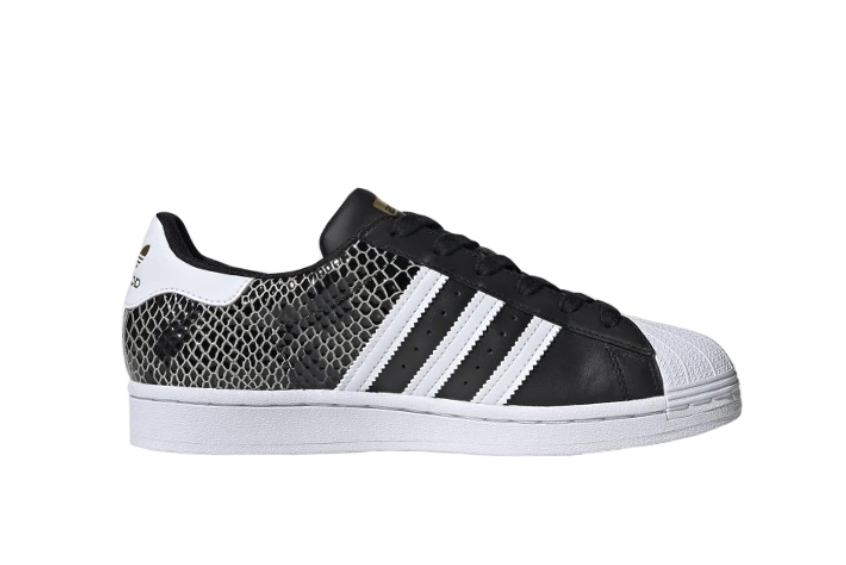adidas Superstar Snakeskin White Black fv3327