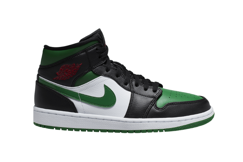 Nike Air Jordan 1 Mid Green Toe 554724-067