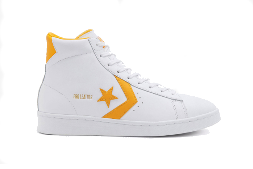 Converse Pro Leather Mid Yellow White 166812c