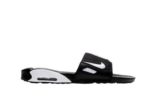 Nike Air Max 90 Slide Black White bq4635-002