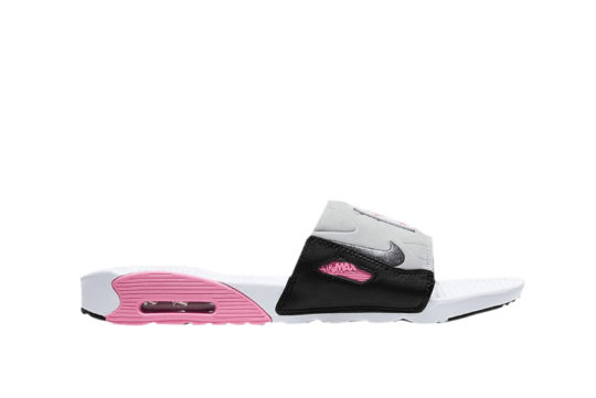 Nike Air Max 90 Slide Grey Pink bq4635-100