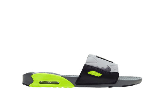 Nike Air Max 90 Slide Grey Yellow bq4635-001