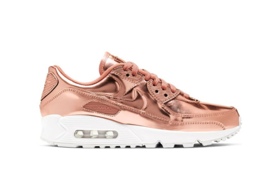 Nike Air Max 90 Liquid Metal Rose Gold cq6639-600
