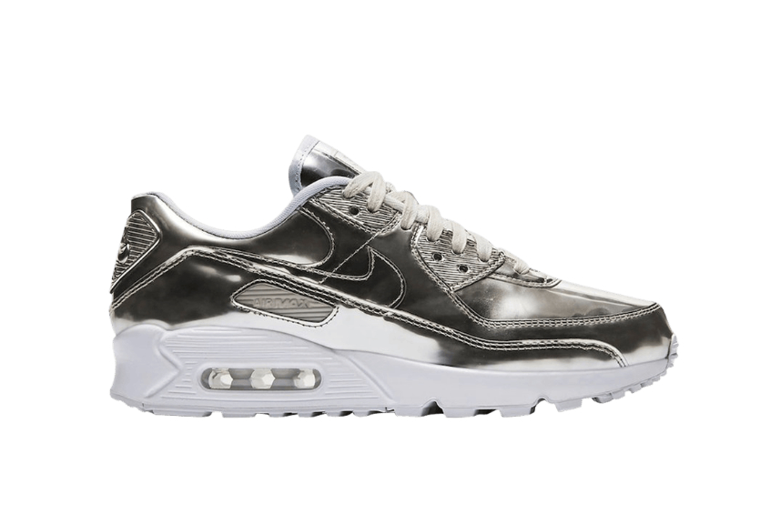 Nike Air Max 90 Metallic Pack Silver cq6639-001