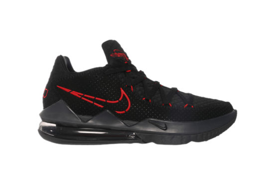 Nike LeBron 17 Low Black Red cd5007-001