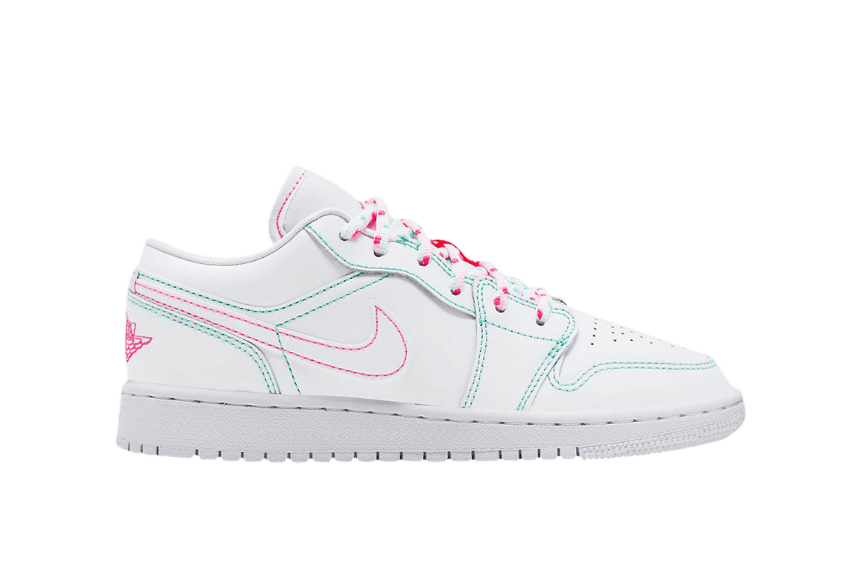 Jordan 1 Low GS White Aurora Green 554723-101