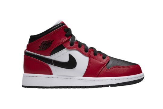 Air Jordan 1 Mid Black Toe Chicago GS 554725-069