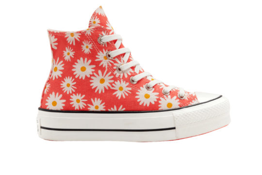 Converse Camp Daisies Platform Chuck Taylor All Star High Top Red 568930c
