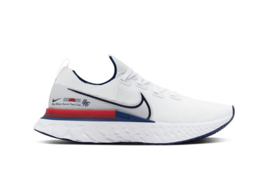 Nike React Infinity Run Blue Ribbon Sports White Red cw7597-100