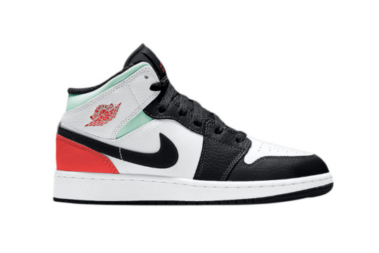 Jordan 1 Mid GS Black Toe bq6931-100