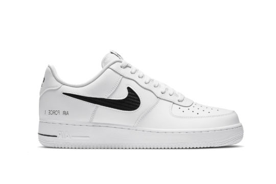 Nike Air Force 1 Low Cut Out Swoosh White cz7377-100