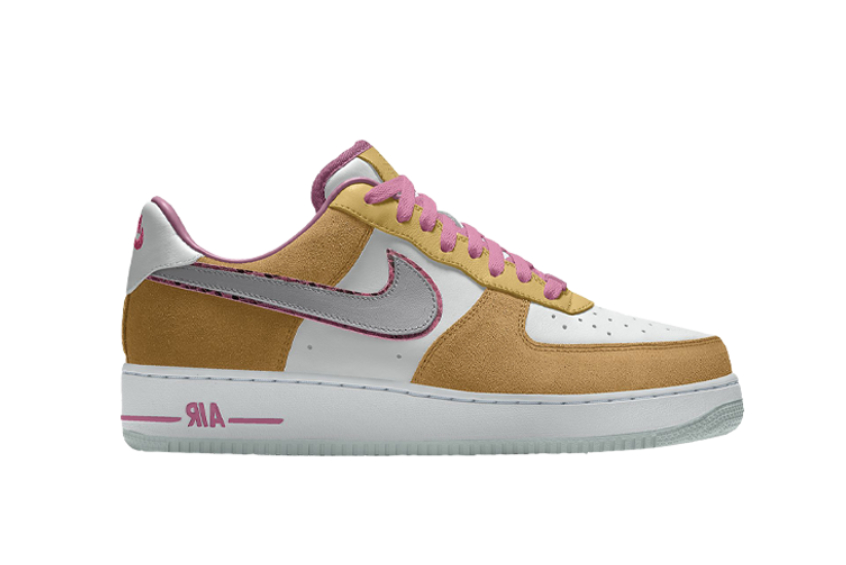 Nike Air Force 1 Low Unlocked By You Gold Pink ct3761-991