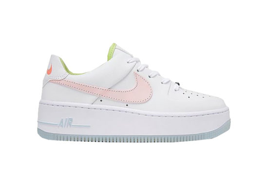 Nike Air Force 1 Sage Low One Of One White Pink Quartz cw5566-100