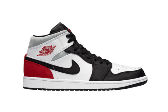 Jordan 1 Mid SE Black White Red 852542-100