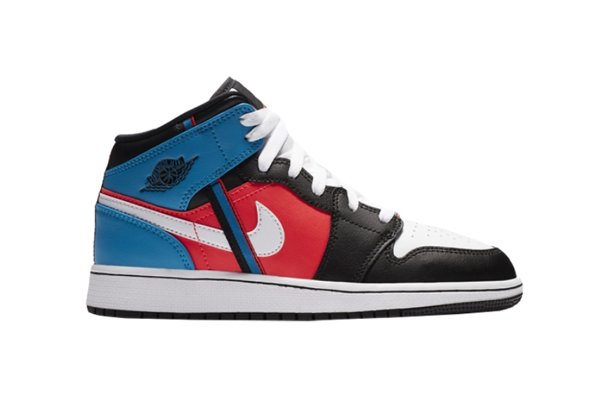 Jordan 1 Mid White Blue Red Release Date Price Info