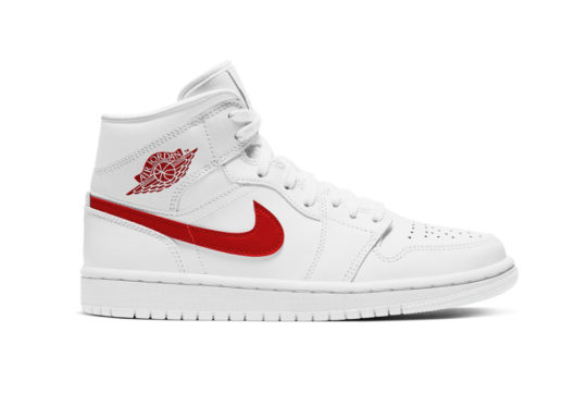 Jordan 1 Mid White University Red bq6472-106
