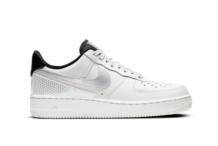 3M x Nike Air Force 1 White Silver Metallic ct2299-100