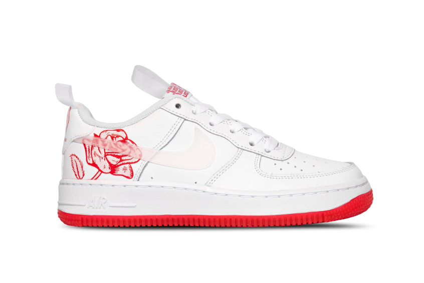 Nike Air Force 1 GS Rose White University Red cn8534-100