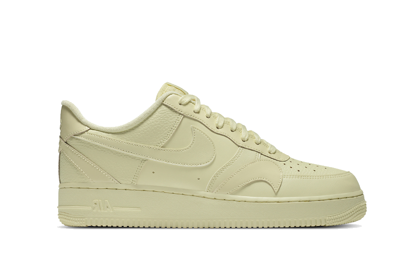 Nike Air Force 1 Misplaced Swoosh Pale Yellow ck7214-700