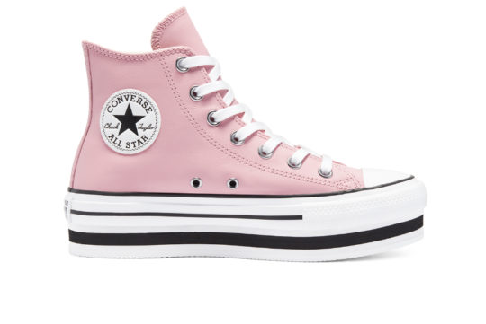 Converse Chuck Taylor All Star Leather EVA High Top Pink 569723c