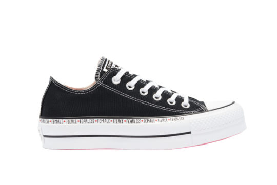 Converse Chuck Taylor All Star Platform Low Top Black White 569262c