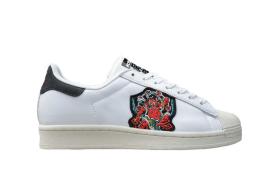 adidas Superstar Pure Stitched Logo White Multi fy6735