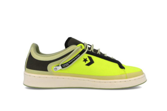 Fuse Tape Converse Pro Leather Ox Black Yellow 169523c