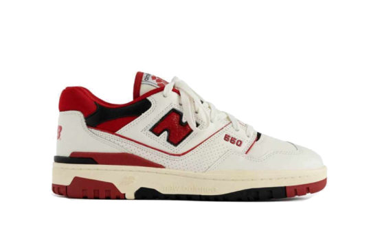 Aimé Leon Dore x New Balance 550 White Red bb550ae1
