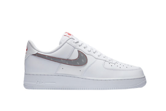 3M x Nike Air Force 1 Reflective Swoosh White ct2296-100