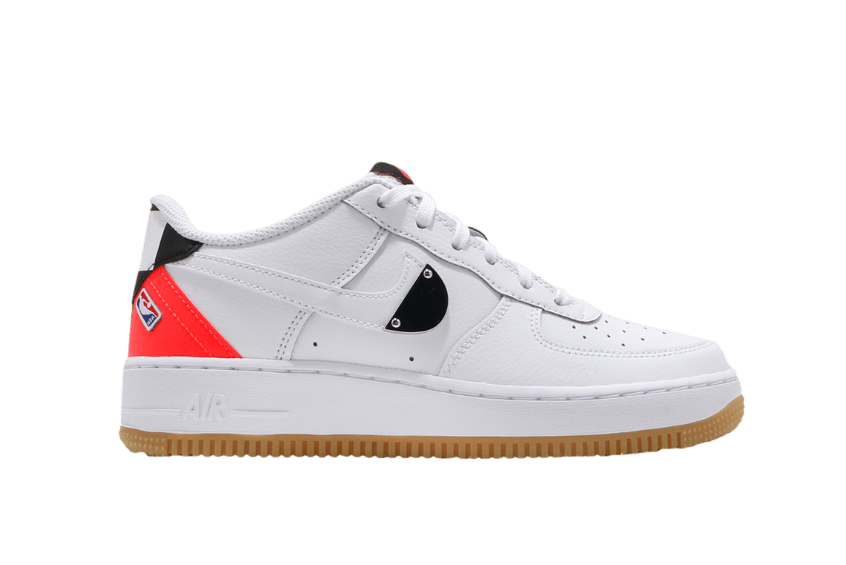 NBA x Nike Air Force 1 LV8 1 GS White Bright Crimson ct3842-101