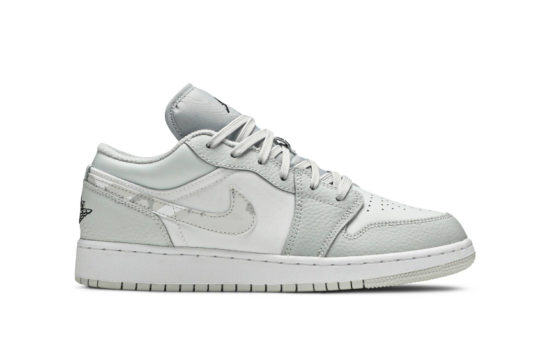 Nike Air Jordan 1 Low White Camo Swoosh GS dd3234-100