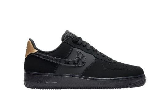 Nike Air Force 1 Matte Black Gold dc3951-001
