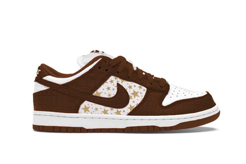 Supreme x Nike SB Dunk Low « Barkroot Brown » dh3228-103