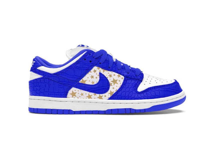Supreme x Nike SB Dunk Low Stars Hyper Blue dh3228-100