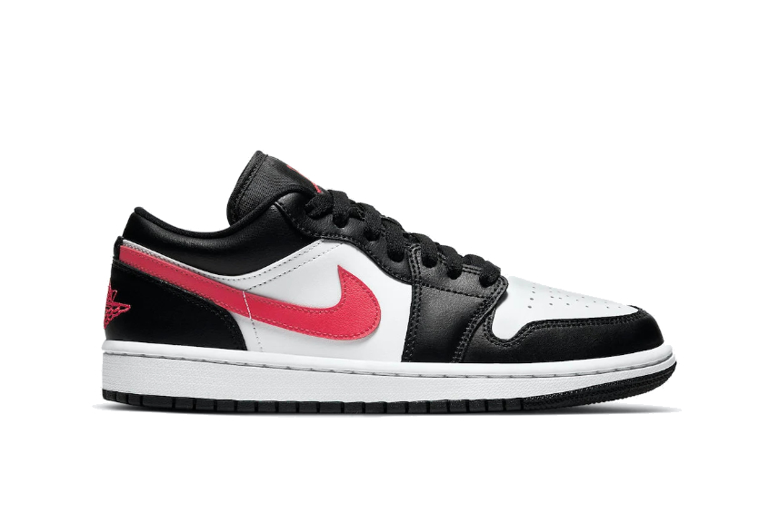 Air Jordan 1 Low Black Siren Red dc0774-004