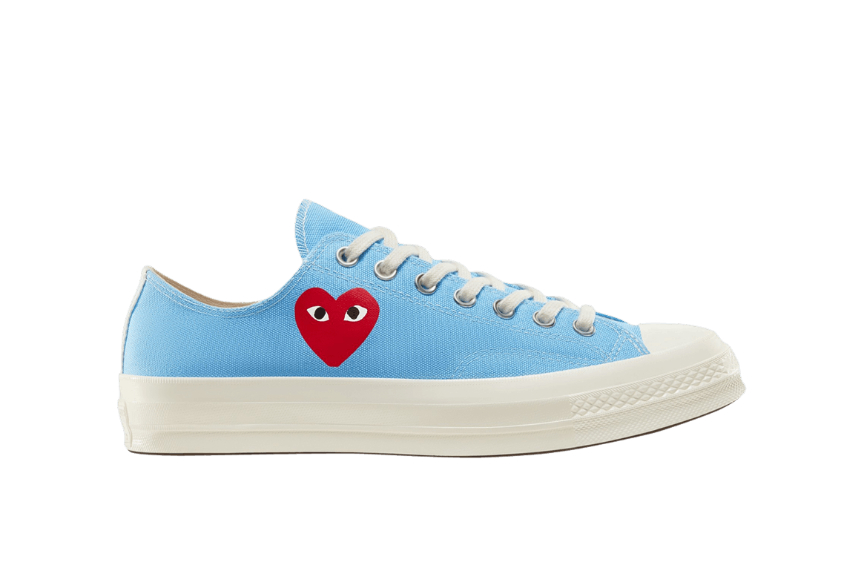 Comme des Garcons Play Converse Chuck Taylor All Star 70 Low Blue 168303c