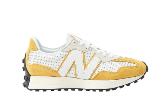 New Balance 327 Perforated Pack White Yellow ms327pg