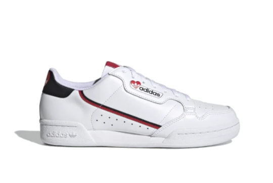 adidas continental 80 Cloud White Scarlet fz1818