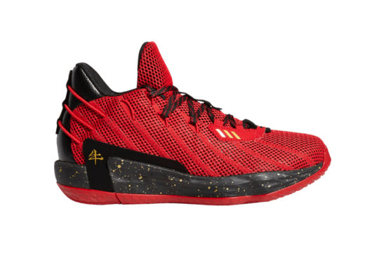 adidas Dame 7 Chinese New Year Scarlet Core Black fy3442