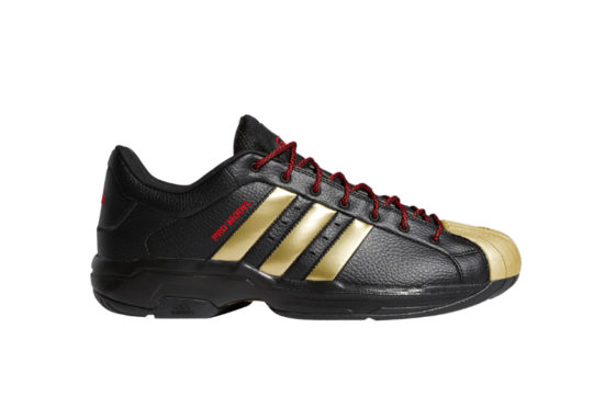 adidas Pro Model 2G Low Core Black Metallic Gold fx7101