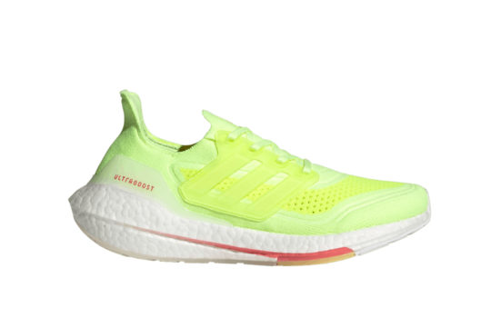 adidas Ultra Boost 21 Hi Res Yellow White Womens fy0398